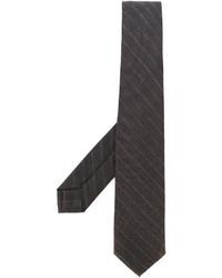 Corbata de rayas horizontales en marrón oscuro de Barba