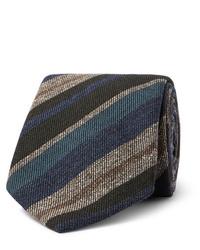 Corbata de rayas horizontales en multicolor de Brioni