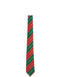 Corbata de rayas horizontales en multicolor de Gucci