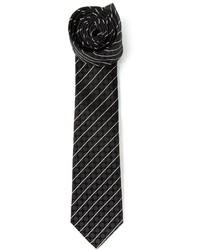 Corbata de rayas horizontales en negro y blanco de Dolce & Gabbana