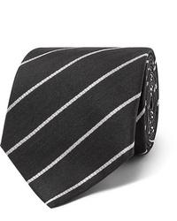 Corbata de rayas horizontales en negro y blanco de The Row