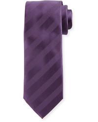 Corbata de rayas horizontales en violeta
