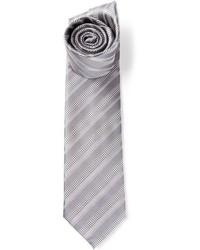 Corbata de rayas horizontales gris de Brioni