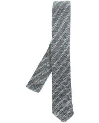 Corbata de rayas horizontales gris de Eleventy