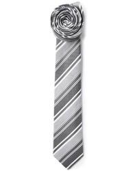 Corbata de rayas horizontales gris de Jil Sander