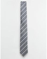 Corbata de rayas horizontales gris de Selected