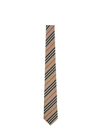 Corbata de rayas horizontales marrón claro de Burberry