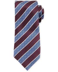 Corbata de rayas horizontales morado oscuro