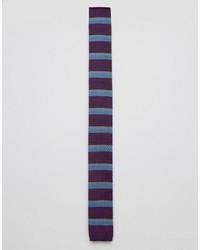 Corbata de rayas horizontales morado oscuro de Original Penguin