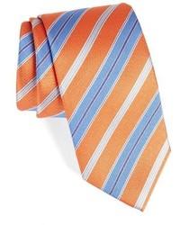 Corbata de rayas horizontales naranja