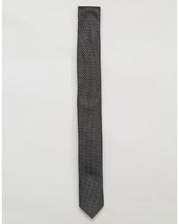 Corbata de Rayas Horizontales Negra de Asos