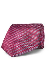 Corbata de rayas horizontales roja de Charvet