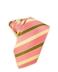 Corbata de rayas horizontales rosada