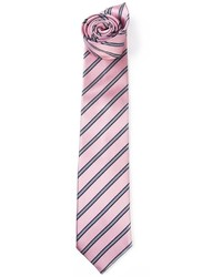 Corbata de rayas horizontales rosada de Ermenegildo Zegna