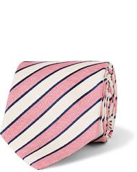 Corbata de rayas horizontales rosada de Richard James