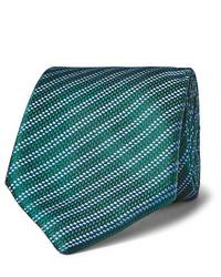Corbata de rayas horizontales verde de Charvet