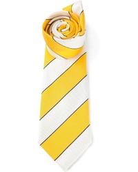 Corbata de rayas verticales amarilla de Paul Smith
