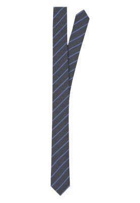 Corbata de rayas verticales azul marino de Calvin Klein