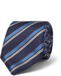 Corbata de rayas verticales azul marino de Canali