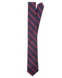 Corbata de rayas verticales azul marino de Ralph Lauren