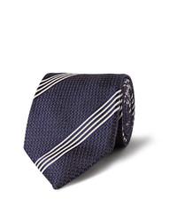 Corbata de rayas verticales azul marino de Tom Ford