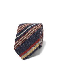 Corbata de rayas verticales azul marino de Turnbull & Asser
