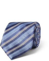 Corbata de rayas verticales azul de Brioni