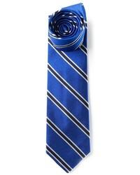 Corbata de rayas verticales azul de Polo Ralph Lauren