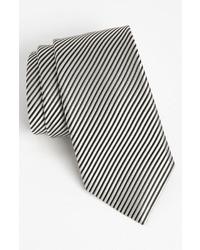 Corbata de Rayas Verticales Blanca y Negra