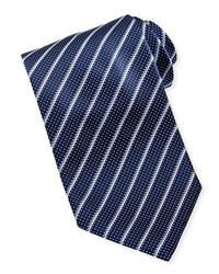 Corbata de rayas verticales en azul marino y blanco