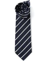 Corbata de rayas verticales en blanco y azul marino de Etro