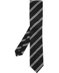 Corbata de rayas verticales en negro y blanco de Dolce & Gabbana