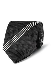 Corbata de rayas verticales en negro y blanco de Tom Ford