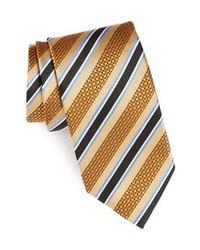 Corbata de rayas verticales marrón claro