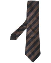 Corbata de Rayas Verticales Marrón Oscuro