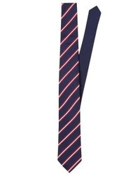 Corbata de Rayas Verticales Morado Oscuro de Tommy Hilfiger