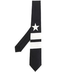 Corbata de rayas verticales negra de Givenchy