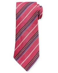 Corbata de rayas verticales rosa