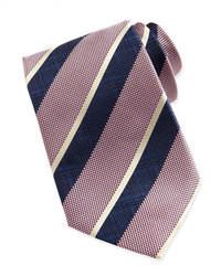 Corbata de rayas verticales rosada