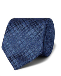 Corbata de Seda a Cuadros Azul de Charvet