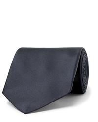 Corbata de seda azul marino de Alexander McQueen