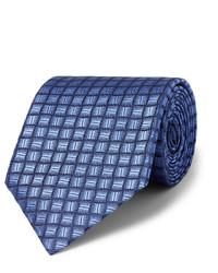 Corbata de seda azul marino de Charvet