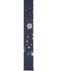 Corbata de seda azul marino de Valentino