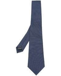 Corbata de seda azul marino de Z Zegna