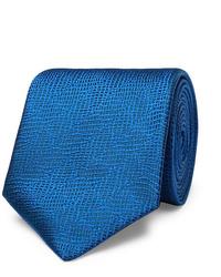 Corbata de seda azul de Charvet