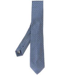Corbata de seda azul de Giorgio Armani