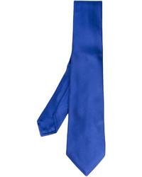 Corbata de seda azul de Kiton