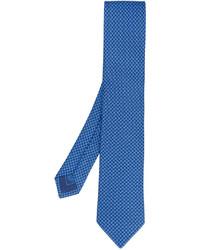 Corbata de seda bordada azul de Brioni