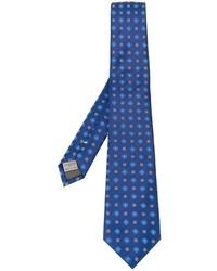 Corbata de seda bordada azul de Canali