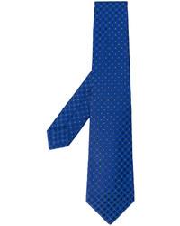 Corbata de seda bordada azul de Kiton